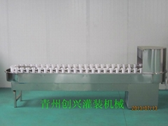 中小型酒厂用链轨式酒瓶冲洗机