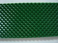 绿色钻石纹pvc输送带