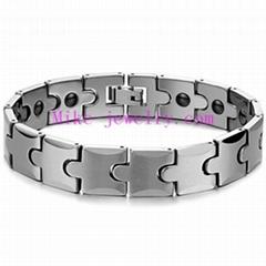 Tungsten steel magnetic bracelet