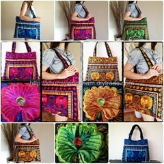 Colorful Embroidered Large Beach Hand Bag Tote