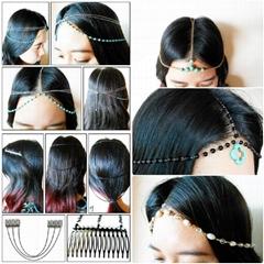 Hair Chain Accessory Summer Chains Head Chain Head Piece Hair Jewelry
