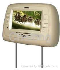 7 inches stand alone TFT LCD headrest DVD player