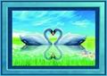 精品鑽石畫3D 5D心心相印天鵝圖結婚送禮 2