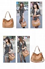 Handbags 2014 leather bag for women shoulder long strap bag