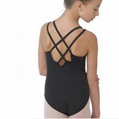 Child ballet leotard with double straps camisole