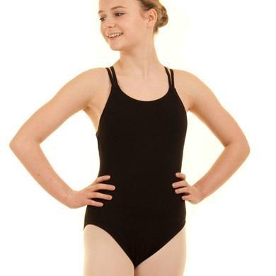 Child ballet leotard with double straps camisole 2
