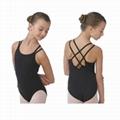 Child ballet leotard with double straps camisole 3