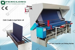 PL-B1 Textile Inspection and Winding Machine with cloth cradle