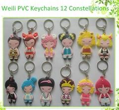 3D soft PVC keychain