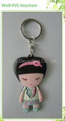 Promotional Gift 3D soft PVC keychain
