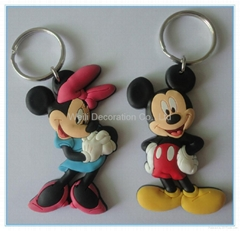 Eco-friendly 3D soft PVC keychain