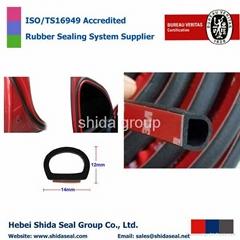 Big D-shape Car Truck Motor Door Rubber Seal Strip Weatherstrip Seals Hollow
