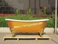 "72""Cast iron bathtub with metal feet"