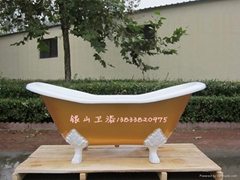Ship type cast iron bathtub
