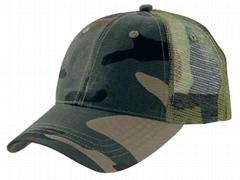 camouflage cotton mesh trucker cap