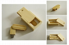 Light Wood 8GB Flash Drive and Box Set