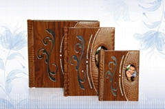 Wood with Leether Digital Photo Album Covers