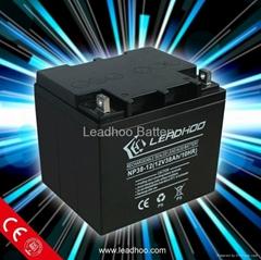 Leadhoo sla lead acid battery 12v38ah
