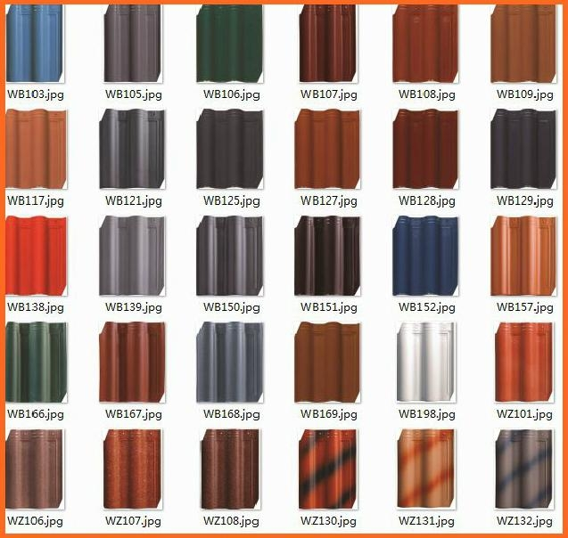2013 different types of ceramic clay roof tiles wb108 Different design and colors of tiles