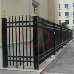 喷荧光粉防锈型 锌钢护栏方形立柱杆