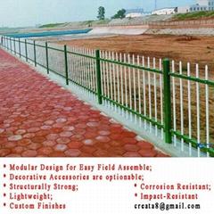 锌钢防锈型 烤美纹漆 工厂农场用 金属护栏