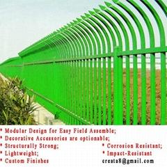 市政公园体育管用 组合式钢制枪尖防爬 锌钢护栏