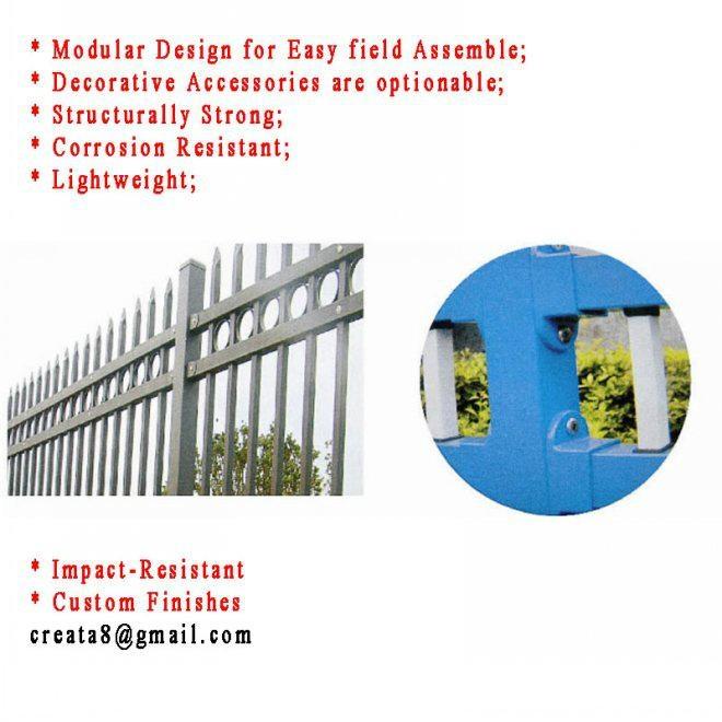 鋅鋼防鏽型 烤熒光漆 組合式 護欄立柱管型材 1