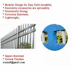 锌钢防锈型 烤荧光漆 组合式 护栏立柱管型材
