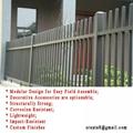 鋅鋼防鏽型 烤熒光漆 組合式 護欄立柱管型材 3