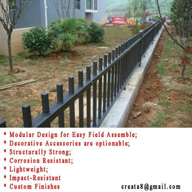鋅鋼防鏽型 烤熒光漆 組合式 護欄立柱管型材 4