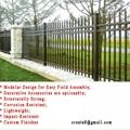 鋅鋼防鏽型 烤熒光漆 組合式 護欄立柱管型材 5