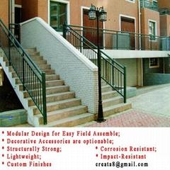 锌钢防锈型 组合式 户外 楼梯栏杆扶手