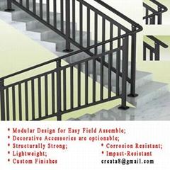 新型 锌钢防锈 易清洁 楼梯护栏扶手