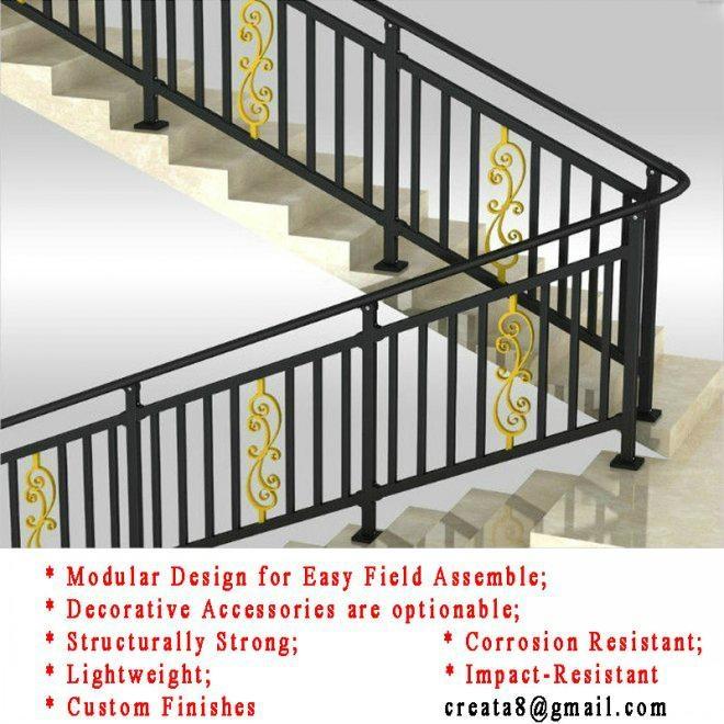 New Style Modular Steel Stair Hand Railings Ct B3 Ct