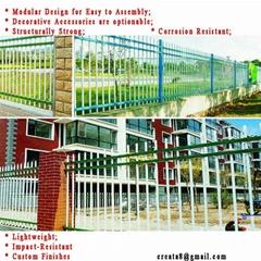市政学校医院泳池用 防锈自洁型 锌钢护栏