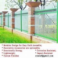 新型锌钢防锈 快装式 院墙围栏
