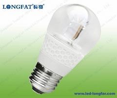 led candle bulb light E27 P45 with transparent (Ceramics)