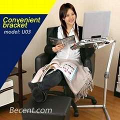 Adjustable Convenient bracket French bed laptop stand rack  mount laptop holder