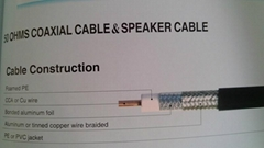 50 ohm Coaxial Cable&Speaker Cable5D-FB