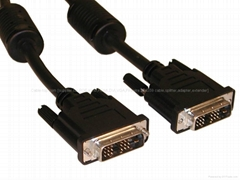 DVI-I 18+5/24+5 monitor cable with high resolution