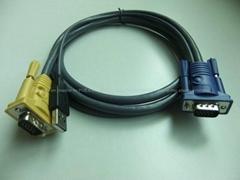 定制KVM控制线带DVI/VGA/USB/PS2/3.5mm接口