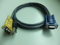 OEM KVM cable with DVI/VGA/USB/PS2/3.5mm plug