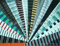 色织彩条针织面料