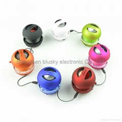 free shipping via DHLhot selling portable mini speaker with seven colours availa