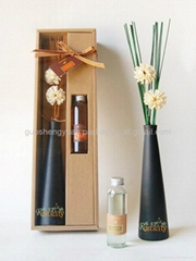 natural reed diffuser set with dried flower