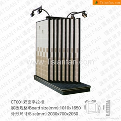Double sides Ceramic Tile Display Rack