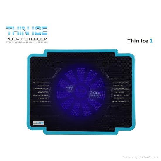 Ultra-slim Single Fan USB Powered Coolcold Laptop Coolers 1