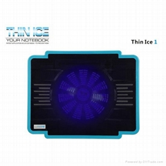 Ultra-slim Single Fan USB Powered Coolcold Laptop Coolers