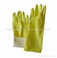 Latex household gloves 1