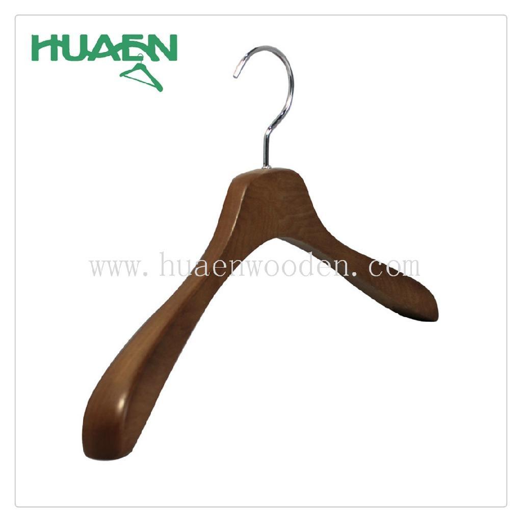 """15 3/8"""" fashion korean clothes hanger luxury wooden hanger-11C038  2"""